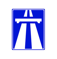 Highway signs traffic blue vector