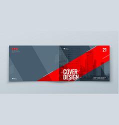 Horizontal catalog template layout design vector
