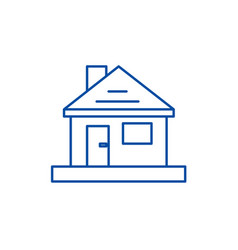 househome repair line icon concept househome vector image