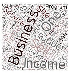 Income Streams You Can Add to Your Business And vector image