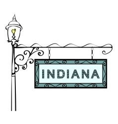 Indiana retro pointer lamppost vector