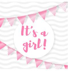 Its a girl vector