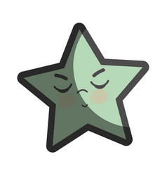Kawaii angry and cute star design vector