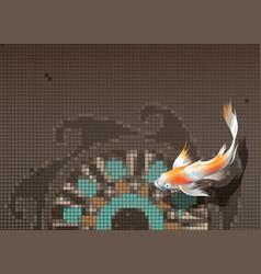 koi carp in pool vector image