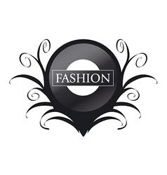 logo black circle with patterns vector image