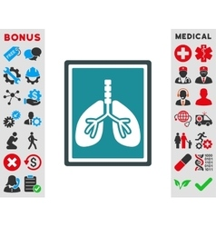 Lungs X-Ray Photo Icon vector image