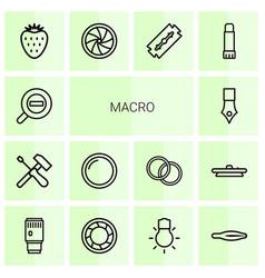 Macro icons vector