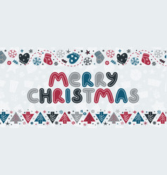 merry christmas caption vector image