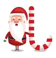 merry christmas santa claus character vector image vector image