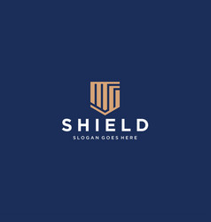 mg shield logo vector image