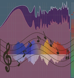 Musical spectrum vector image