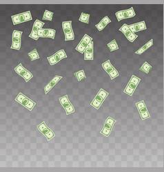 paper money falling vector image