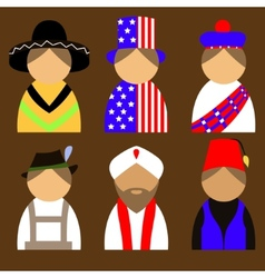 People in nationail costumes vector