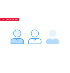 person people icon in line outline filled outline vector image