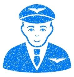 Pilot Grainy Texture Icon vector