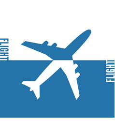 plane icon solid concept vector image