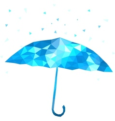 polygonal umbrella vector image