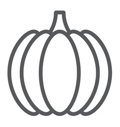 pumpkin line icon vegetable and vitamin vector image