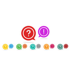 question and exclamation mark icon faq help vector image
