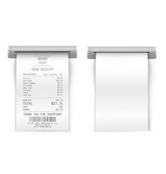 sales printed receipt mockup vector image