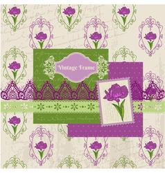 Scrapbook design elements - iris flowers vector