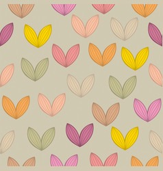 seamless background pattern with leaf vector image
