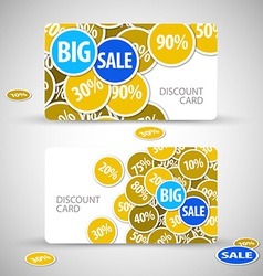 Set of big sale cards vector image