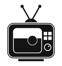Soccer match on TV icon simple style vector image