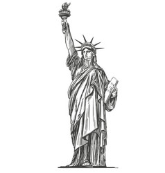 statue liberty symbol freedom and democracy vector image