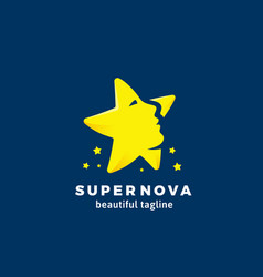 super nova abstract sign emblem or logo vector image
