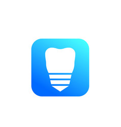 tooth dental implant icon sign vector image