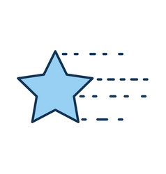 Universe star isolated icon vector