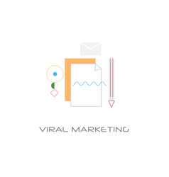 viral content marketing spread optimization vector image