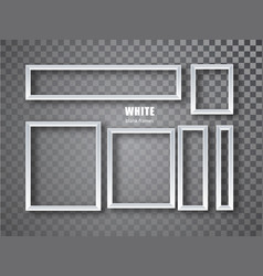 White frames banners set plates with a vector