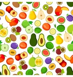 Whole and halved fruits seamless pattern vector