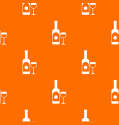 wine and glass pattern seamless vector image