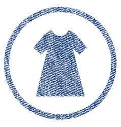 Woman dress rounded fabric textured icon vector