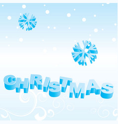 xmas text backdrop vector image