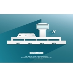 Airport Terminal landscape Air crafts vector image