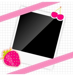 scrapbook elements with photos frame vector image vector image
