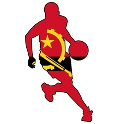 basketball colors of Angola vector image vector image