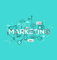 creative of marketing word vector image