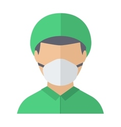 Doctor face vector image vector image