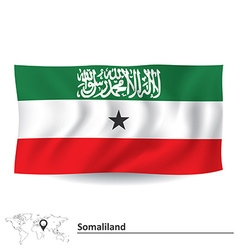 Flag of Somaliland vector image vector image