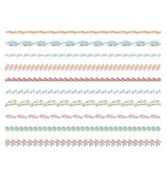 frame border floral ornament vector image
