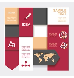 Modern Design template Graphic or website layout vector image