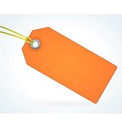 Orange Paper Label vector image vector image