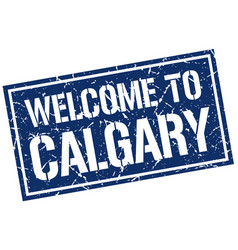 Welcome to calgary stamp vector