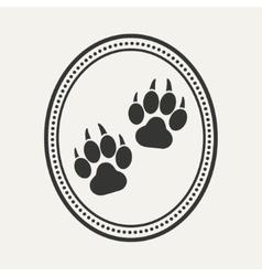 Dog pet logo vector image