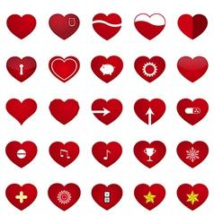 Love Heart Set vector image vector image